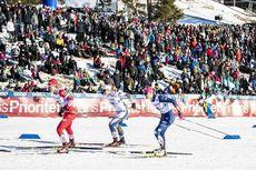 16.03.2019, Falun, Sweden (SWE):Natalia Matveeva (RUS), Sophie Caldwell (USA), Ida Ingemarsdotter (SWE), (l-r)  - FIS world cup cross-country, individual sprint, Falun (SWE). www.nordicfocus.com. © Modica/NordicFocus. Every downloaded picture is fee-lia