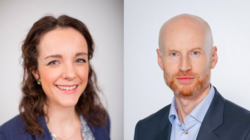Benedicte Fjellanger, Manager Business Consulting i Sopra Steria, og Lars Ødegaard, direktør for offentlig sektor i Sopra Steria. (Foto: Sopra Steria)