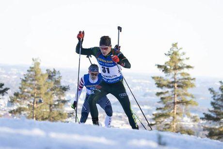 23.03.2019, Oslo, Norway (NOR):Lucas Fratzscher (GER) - IBU world cup biathlon, pursuit men, Oslo (NOR). www.nordicfocus.com. © Manzoni/NordicFocus. Every downloaded picture is fee-liable.