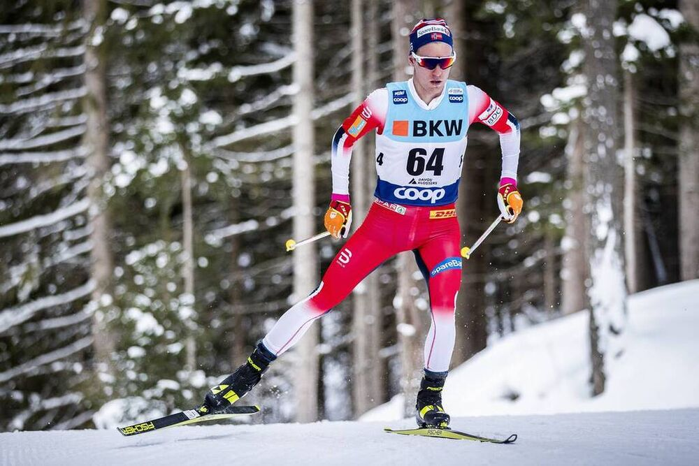15.12.2019, Davos, Switzerland (SUI):Didrik Toenseth (NOR) - FIS world cup cross-country, 15km men, Davos (SUI). www.nordicfocus.com. © Modica/NordicFocus. Every downloaded picture is fee-liable.