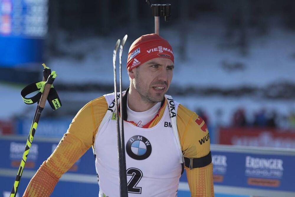 23.01.2020, Pokljuka, Slovenia (SLO):Arnd Peiffer (GER) -  IBU world cup biathlon, individual men, Pokljuka (SLO). www.nordicfocus.com. © Manzoni/NordicFocus. Every downloaded picture is fee-liable.