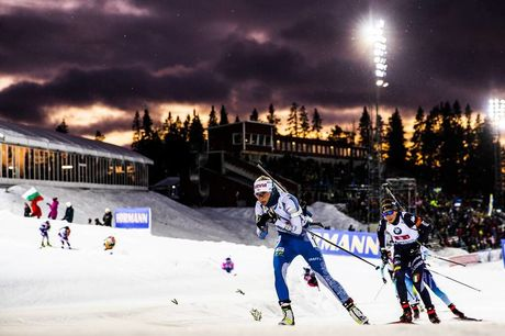 30.11.2019, Oestersund, Sweden, (SWE):Mari Eder (FIN) - IBU world cup biathlon, relay mixed, Oestersund (SWE). www.nordicfocus.com. © Manzoni/NordicFocus. Every downloaded picture is fee-liable.