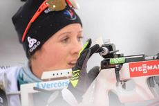 08.03.2019, Oestersund, Sweden (SWE):Celia Aymonier (FRA) - IBU world championships biathlon, sprint women, Oestersund (SWE). www.nordicfocus.com. © Tumashov/NordicFocus. Every downloaded picture is fee-liable.