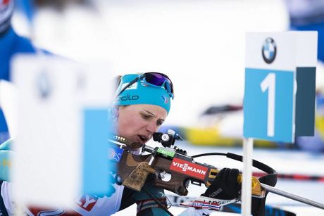 13.02.2020, Antholz, Italy (ITA):Julia Simon (FRA) - IBU World Championships Biathlon, relay mixed, Antholz (ITA). www.nordicfocus.com. © Manzoni/NordicFocus. Every downloaded picture is fee-liable.