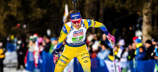 13.02.2020, Antholz, Italy (ITA):Hanna Oeberg (SWE) - IBU World Championships Biathlon, relay mixed, Antholz (ITA). www.nordicfocus.com. © Modica/NordicFocus. Every downloaded picture is fee-liable.