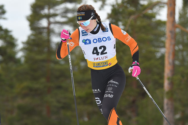 MOA OLSSON, Falun-Borlänge SK leder klart i VW Cup i D21 och hon är anmäld i Lycksele i helgen. Foto/rights: ROLF ZETTERBERG/kekstock.com