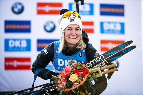 14.02.2020, Antholz, Italy (ITA):Marte Olsbu Roeiseland (NOR) - IBU World Championships Biathlon, sprint women, Antholz (ITA). www.nordicfocus.com. © Modica/NordicFocus. Every downloaded picture is fee-liable.
