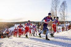 07.12.2019, Lillehammer, Norway (NOR):Johannes Hoesflot Klaebo (NOR), Iivo Niskanen (FIN), Emil Iversen (NOR), Hans Christer Holund (NOR), Sjur Roethe (NOR), Alexander Bolshunov (RUS), Perttu Hyvarinen (FIN), Jens Burman (SWE), Andrey Larkov (RUS), Serge