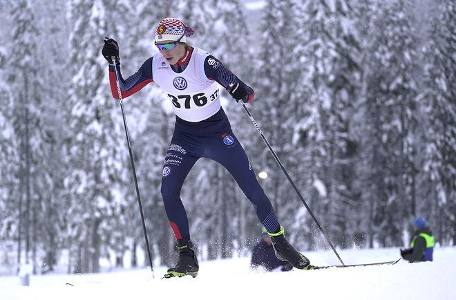 WILLIAM POROMAA var helt överlägsen i lördagens JVM-test över 30 km i Lycksele. Foto/rights: TOM-WILLIAM LINDSTRÖM/kekstock.com