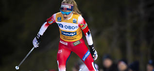 14.02.2020, Oestersund, Sweden (SWE):Therese Johaug (NOR) - FIS world cup cross-country, 10km women, Oestersund (SWE). www.nordicfocus.com. © Vianney THIBAUT/NordicFocus. Every downloaded picture is fee-liable.
