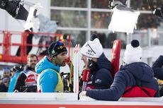 15.02.2020, Antholz, Italy (ITA):Martin Fourcade (FRA), Johannes Thingnes Boe (NOR), (l-r) - IBU World Championships Biathlon, sprint men, Antholz (ITA). www.nordicfocus.com. © Manzoni/NordicFocus. Every downloaded picture is fee-liable.