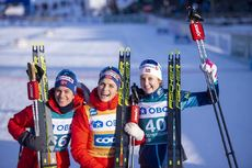 15.02.2020, Oestersund, Sweden (SWE):Heidi Weng (NOR), Therese Johaug (NOR), Ingvild Flugstad Oestberg (NOR) - FIS world cup cross-country, 10km women, Oestersund (SWE). www.nordicfocus.com. © Vianney THIBAUT/NordicFocus. Every downloaded picture is fee