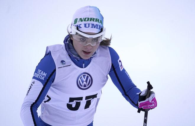 REBECCA ÖHRN, Vilhelmina-tjejen från IFK Umeå, vann VW Cup-tävlingen i Lycksele och får nu chansen i världscupen i Lahtis. Foto/rights: TOM-WILLIAM LINDSTRÖM/kekstock.com
