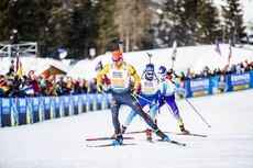 13.02.2020, Antholz, Italy (ITA):Arnd Peiffer (GER), Benjamin Weger (SUI), (l-r) - IBU World Championships Biathlon, relay mixed, Antholz (ITA). www.nordicfocus.com. © Modica/NordicFocus. Every downloaded picture is fee-liable.