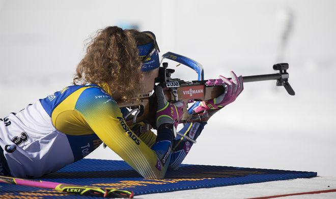 HANNA ÖBERG var lite okoncentrerad i ett par små ögonblick. Det kostade kanske den svenska favoriten VM-guldet på distansen i Antholz. Foto: NORDIC FOCUS