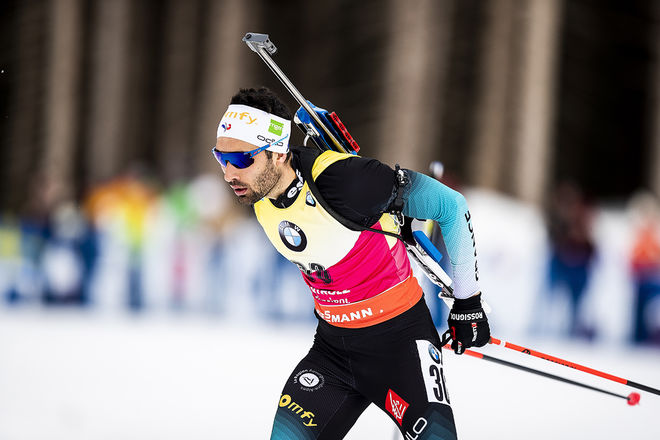 MARTIN FOURCADE på väg mot VM-guldet på distans i Antholz. Foto: NORDIC FOCUS