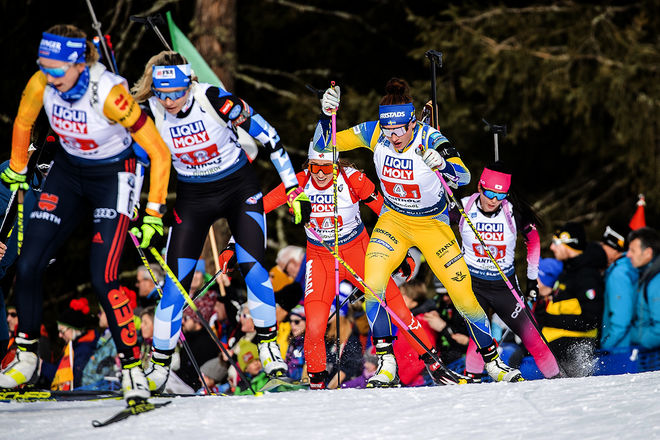 SKIDSKYTTE är en stor succé för SVT. Nu har kanalen säkrat sig rättigheterna till världscupen och VM till och med säsongen 2026. Här med Linn Persson. Foto: NORDIC FOCUS