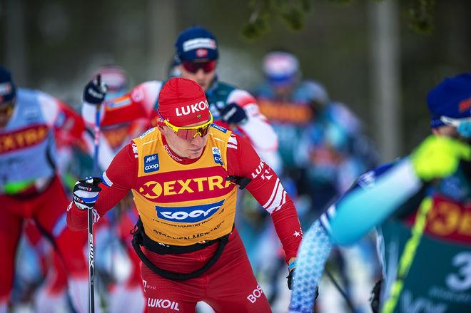 """ALEXANDER """"DEN STORA"""" BOLSHUNOV krossade motståndet på långloppet i Ski Tour 2020 och nu tror dom flesta att han redan har avgjort totalen. Foto: NORDIC FOCUS"""