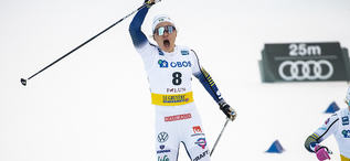 08.02.2020, Falun, Sweden (SWE):Linn Svahn (SWE), Jonna Sundling (SWE), (l-r)  - FIS world cup cross-country, individual sprint, Falun (SWE). www.nordicfocus.com. © Modica/NordicFocus. Every downloaded picture is fee-liable.