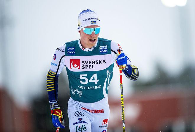 FILIP DANIELSSON krånglade sig äntligen in bland dom 30 bästa och får åka kvartsfinal i Ski Tour 2020 i Trondheim. Foto: NORDIC FOCUS