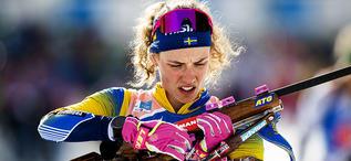 20.02.2020, Antholz, Italy (ITA):Hanna Oeberg (SWE) - IBU World Championships Biathlon, single mixed relay, Antholz (ITA). www.nordicfocus.com. © Modica/NordicFocus. Every downloaded picture is fee-liable.