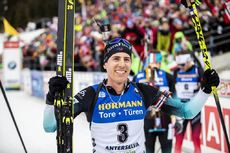 23.02.2020, Antholz, Italy (ITA):Quentin Fillon Maillet (FRA) - IBU world championships biathlon, mass men, Antholz (ITA). www.nordicfocus.com. © Modica/NordicFocus. Every downloaded picture is fee-liable.