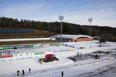 25.02.2020, Minsk-Raubichi, Belarus (BLR):Event Feature: The venue is getting ready for the IBU Open European Championships - IBU Open European Championships Biathlon, training, Minsk-Raubichi (BLR). www.nordicfocus.com. © Manzoni/NordicFocus. Every dow