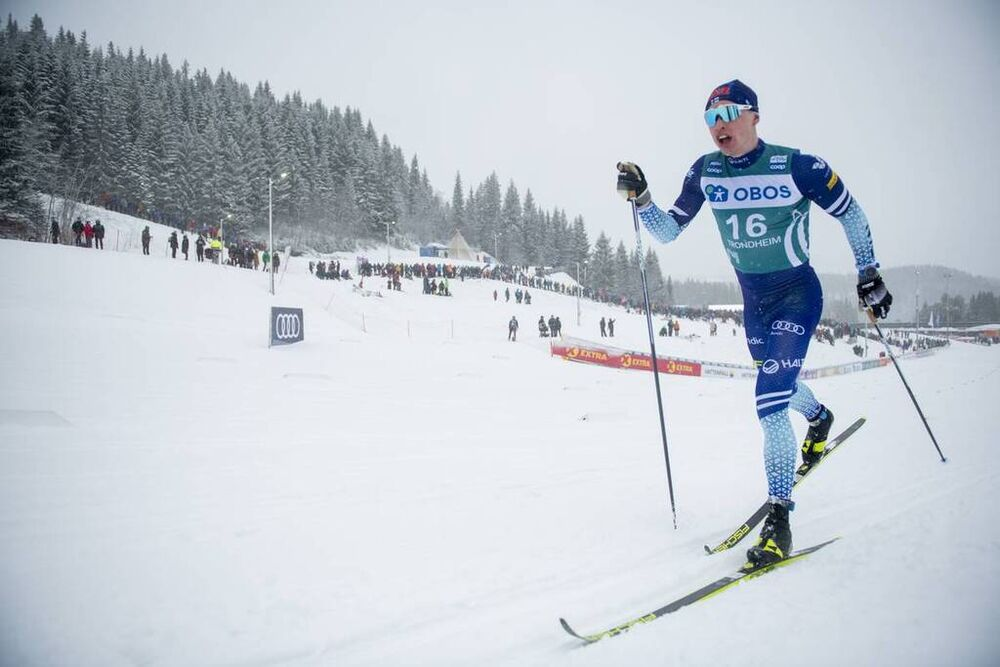 23.02.2020, Trondheim, Norway (NOR):Iivo Niskanen (FIN) - FIS world cup cross-country, pursuit men, Trondheim (NOR). www.nordicfocus.com. © Thibaut/NordicFocus. Every downloaded picture is fee-liable.