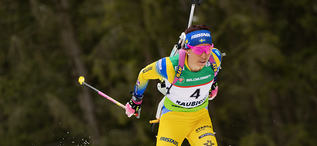 29.02.2020, Minsk-Raubichi, Belarus (BLR):Elisabeth Hoegberg (SWE) - IBU Open European championships biathlon, sprint women, Minsk-Raubichi (BLR). www.nordicfocus.com. © Manzoni/NordicFocus. Every downloaded picture is fee-liable.