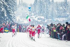 09.03.2019, Oslo, Norway (NOR):Hans Christer Holund (NOR), Johannes Hoesflot Klaebo (NOR), Alexander Bolshunov (RUS), (l-r)  - FIS world cup cross-country, mass men, Oslo (NOR). www.nordicfocus.com. © Modica/NordicFocus. Every downloaded picture is fee-