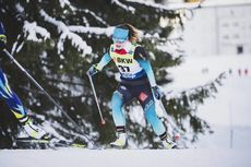 15.12.2019, Davos, Switzerland (SUI):Flora Dolci (FRA) - FIS world cup cross-country, 10km women, Davos (SUI). www.nordicfocus.com. © Modica/NordicFocus. Every downloaded picture is fee-liable.
