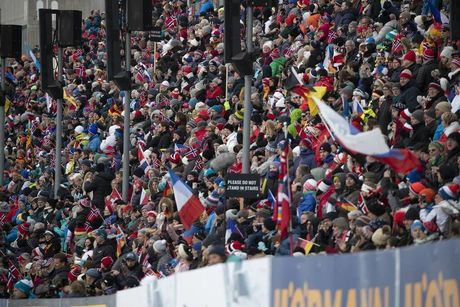 24.03.2019, Oslo, Norway (NOR):Event Feature: Packed grandstand - IBU world cup biathlon, mass men, Oslo (NOR). www.nordicfocus.com. © Manzoni/NordicFocus. Every downloaded picture is fee-liable.