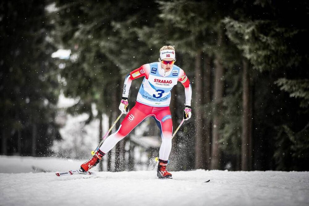 18.01.2020, Nove Mesto, Czech Republic (CZE):Hedda Oestberg Amundsen (NOR) - FIS world cup cross-country, 15km men, Nove Mesto (CZE). www.nordicfocus.com. © Modica/NordicFocus. Every downloaded picture is fee-liable.