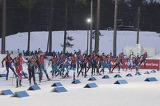 11.03.2018, Kontiolahti, Finland (FIN):Event Feature: the womens field leaves the stadium - IBU world cup biathlon, mass women, Kontiolahti (FIN). www.nordicfocus.com. © Manzoni/NordicFocus. Every downloaded picture is fee-liable.