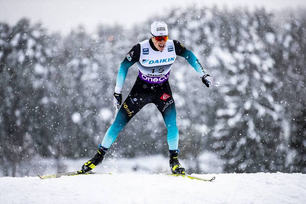 04.03.2020, Konnerud, Norway (NOR):Lucas Chanavat (FRA) - FIS world cup cross-country, individual sprint, Konnerud (NOR). www.nordicfocus.com. © Modica/NordicFocus. Every downloaded picture is fee-liable.