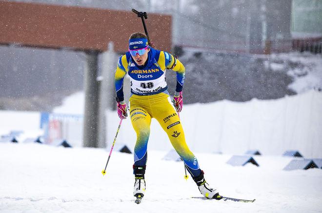 13.03.2020, Kontiolahti, Finland (FIN):Hanna Oeberg (SWE) -  IBU world cup biathlon, sprint women, Kontiolahti (FIN). www.nordicfocus.com. © Manzoni/NordicFocus. Every downloaded picture is fee-liable.