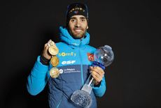 14.03.2020, Kontiolahti, Finland (FIN):Martin Fourcade (FRA) -  IBU World Cup Biathlon, cups, Kontiolahti (FIN). www.nordicfocus.com. © Manzoni/NordicFocus. Every downloaded picture is fee-liable.