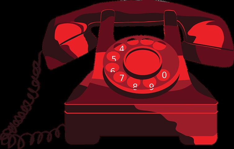 rød telefon