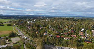 Bilde fra Ås sentrum og nordvestover