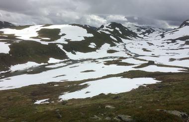 fjellparti mellom Vik og Voss