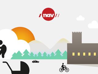 Illustrasjon med NAV logo