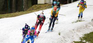 27.02.2020, Minsk-Raubichi, Belarus (BLR):Kristina Reztsova (RUS) - IBU Open European Championships Biathlon, relay mixed, Minsk-Raubichi (BLR). www.nordicfocus.com. © Manzoni/NordicFocus. Every downloaded picture is fee-liable.