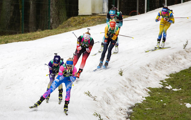 NORSKA TEAM WOODCON söker skidskyttar för nästa säsong. Illustrationsfoto från vinterns EM i Vitryssland. Foto: NORDIC FOCUS