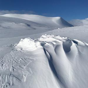 Foto snø og fjell