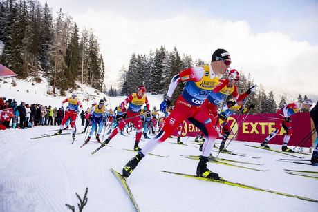28.12.2019, Lenzerheide, Switzerland (SUI):Martin Loewstroem Nyenget (NOR) - FIS world cup cross-country, tour de ski, mass women, Lenzerheide (SUI). www.nordicfocus.com. © Modica/NordicFocus. Every downloaded picture is fee-liable.