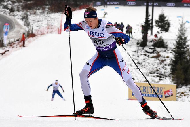 ERIK BJORNSEN hade tredje bästa tiden i jaktstarten i Lillehammers världscup förra säsongen. Foto/rights: ROLF ZETTERBERG/kekstock.com