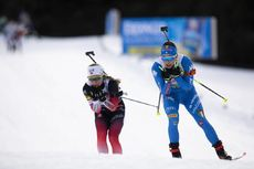 13.02.2020, Antholz, Italy (ITA):Tiril Eckhoff (NOR), Dorothea Wierer (ITAå), (l-r) - IBU World Championships Biathlon, relay mixed, Antholz (ITA). www.nordicfocus.com. © Manzoni/NordicFocus. Every downloaded picture is fee-liable.