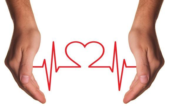 Illustrasjon med to hender som holder en råd linje som danner et hjerte