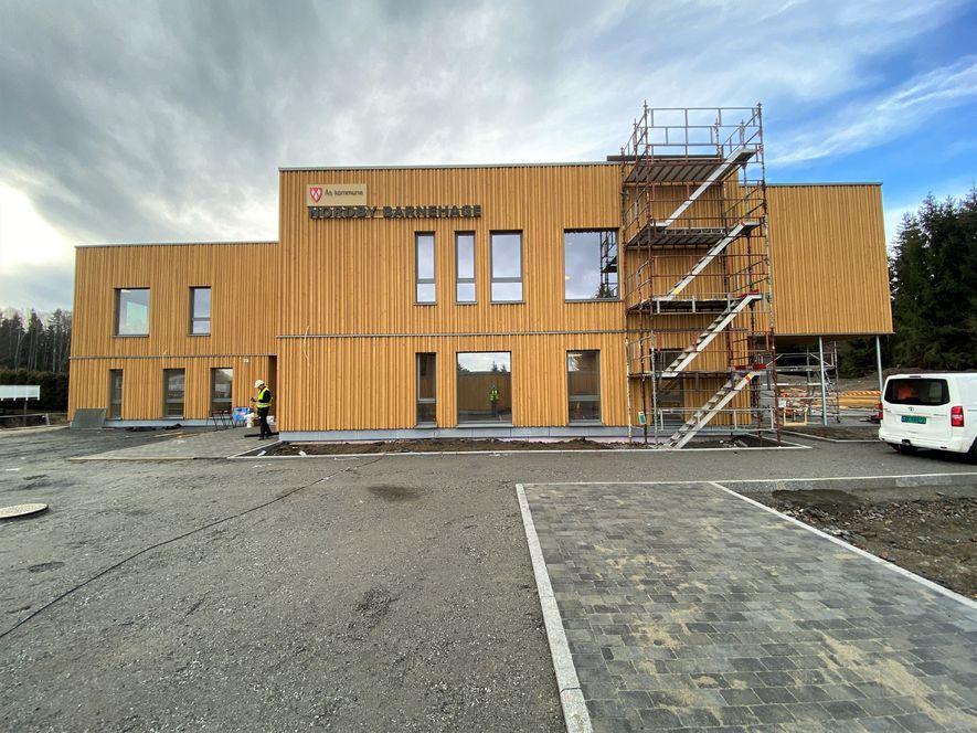 Fasadefoto av Nordby barnehage