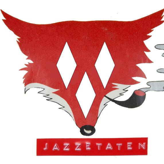 Logoen til bandet Jazzetaten. Jazzetaten strømmer konserten sin live første fredag i påsken. En rev som røyker pipe og har Ås-kommunevåpenets tre ruter som øyne og nese.